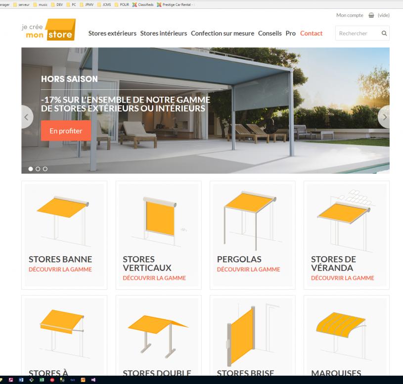 Développement du site jecreemonstore.fr