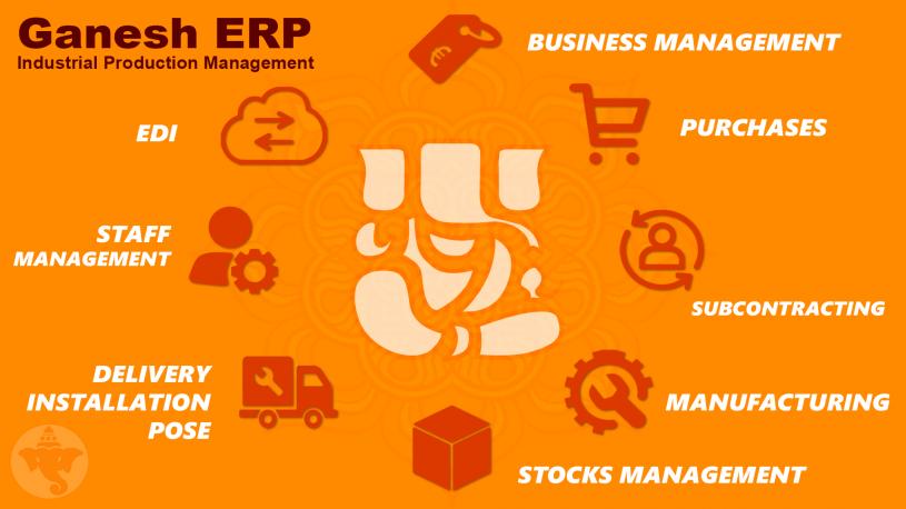 Développement progiciel industriel Ganesh ERP