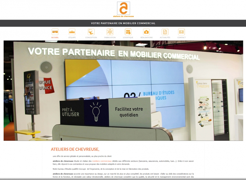 Site web Mobilier-Commercial.com - Groupe ADC