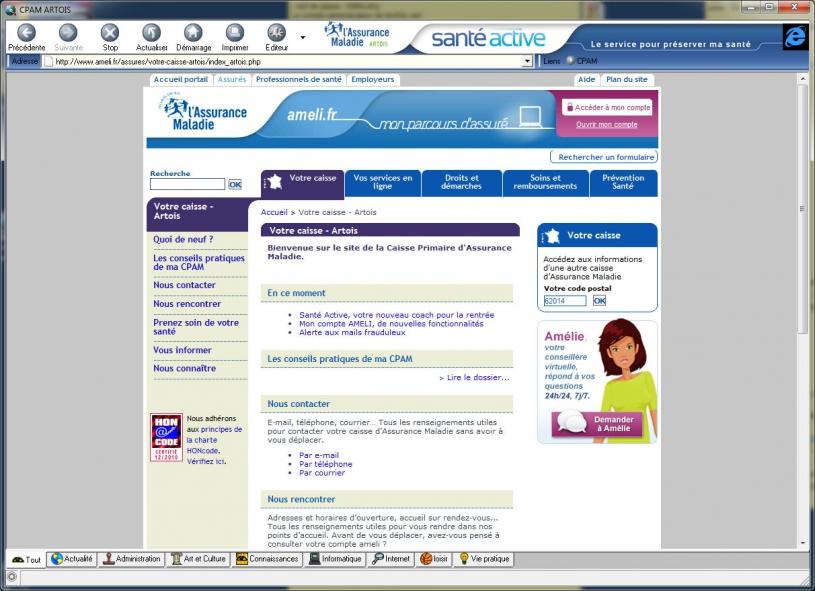 Réalisation d'un navigateur internet Pour la CPAM